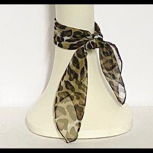 Leopard Chiffon Neck Scarf